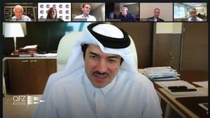 H.E. Al-Sayed addressing webinar attendees