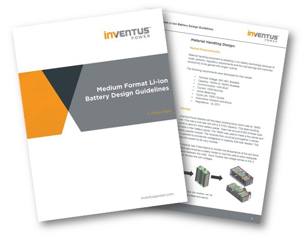 White Paper: Medium Format Li-ion Battery Design Guidelines